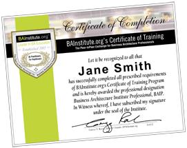 Business Architecture Certificate